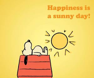 happiness, snoopy, and yellow image