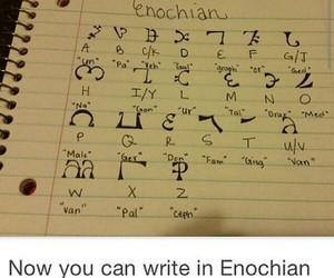 supernatural, enochian, and castiel image