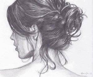 blackandwhite, girl, and lovely image