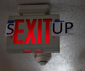exit, funny, and haha image