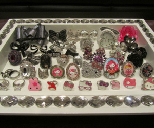 fashion, rings, and hello kitty image