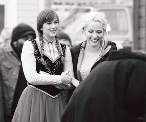 anna, frozen, and once upon a time image