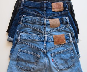 fashion, shorts, and jeans image