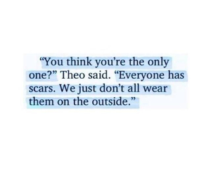 outside, quote, and scars image