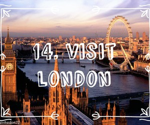 london, travel, and 100 things to do image