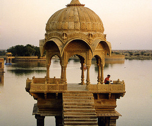 india, architecture, and water image