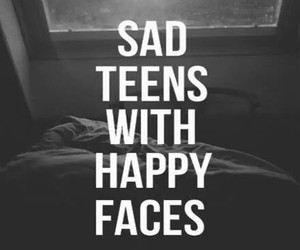 sad, teens, and happy image