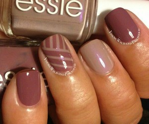 fall, manicure, and nail color image
