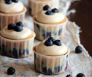 blueberries, cake, and fruit image