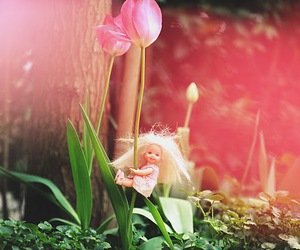 barbie, cute, and flower image