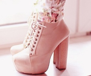 fashion, heel, and lace up image