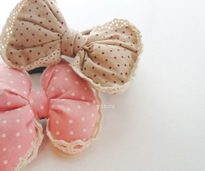 cute, pink, and bow image