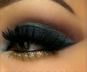 bronze, green, and eyeshadows image