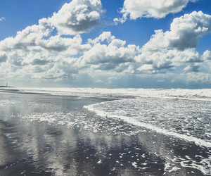 beach, clouds, and nature image