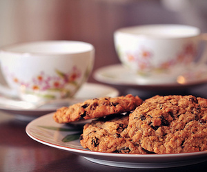 food, tea, and Cookies image