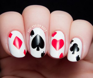 playing cards and nails art image