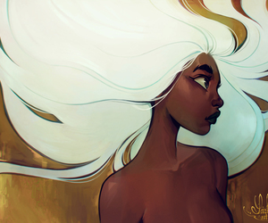 black woman and white hair image