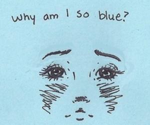 blue, sad, and draw image