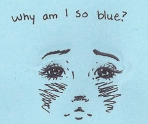 blue, sad, and draw image