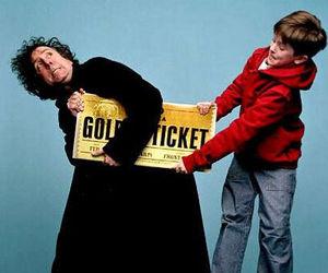 tim burton, freddie highmore, and golden ticket image