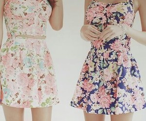 dresses, floral, and summer image