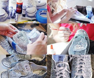 converse, diy, and glitter image