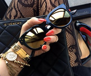 clutch, Givenchy, and glasses image