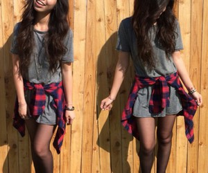 flannel, grunge, and plaid image