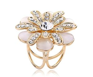 gold scarf ring, flower scarf ring, and trio scarf ring image