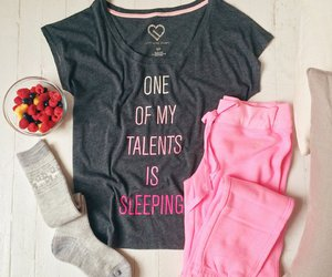 pink, outfit, and pajamas image