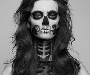 Halloween, skull, and makeup image