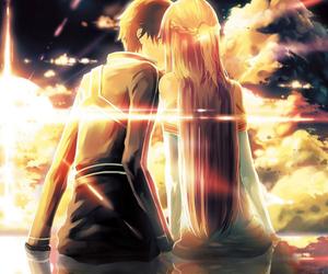 anime, asuna, and kiss image