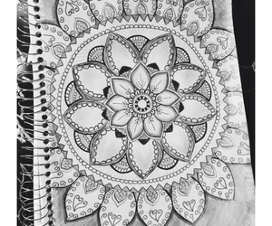 mandala, draw, and art image