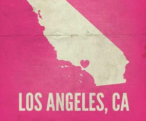 los angeles, california, and pink image