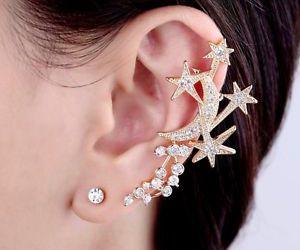 left ear cuff, gold ear cuff, and non pierced ear cuff image