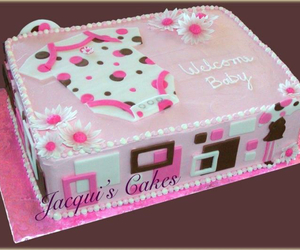 baby, cake, and pink image