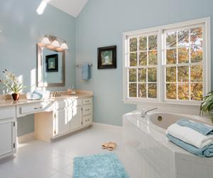 bathroom, blue, and house image