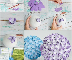 diy, flowers, and decoration image