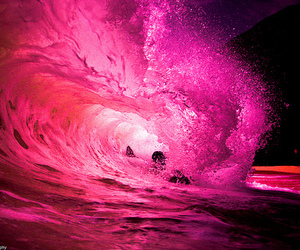 beautiful, water, and wave image