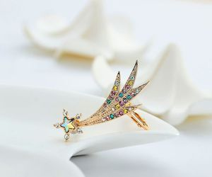 left ear cuff, star ear cuff, and crystal ear cuff image