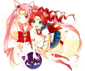 sailor moon, chibiusa, and rini image