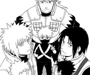 naruto, minato, and kakashi image