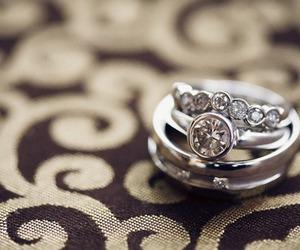 couple, diamond, and marriage image