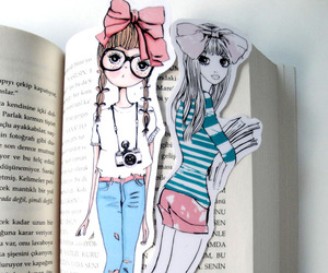 bookmark, books, and cute image