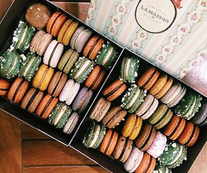 dessert, french, and macaron image