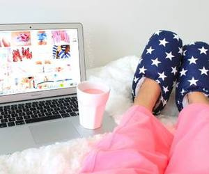 bed, home, and girly image