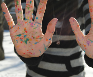 hands, photography, and paint image