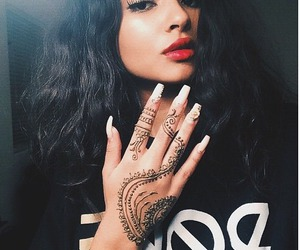 girl, henna, and nails image