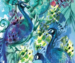 artistry, peacock, and watercolour image