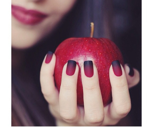nails, apple, and red image